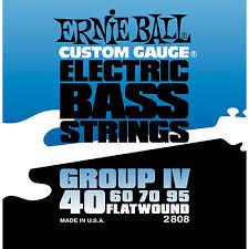 Ernie Ball EB 2808 struny na  baskytaru Flatwound Bass 40-95