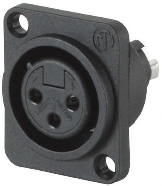 NEUTRIK NC3FPP  XLR panelový konektor