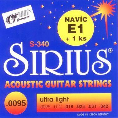 Struny kovové pro akustickou kytaru Gorstrings S-340 Sirius