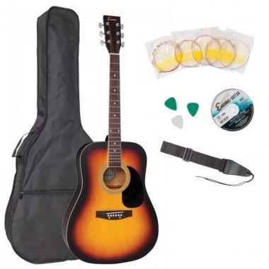Encore EWP-100SB Acoustic Guitar Outfit Sunburst