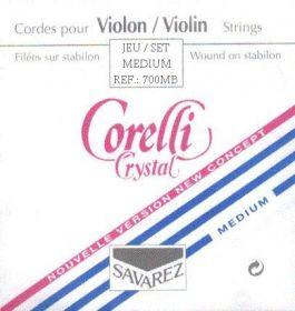 Struny na housle Corelli Crystal 700 MB sada