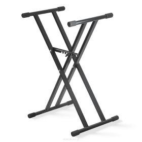 Klávesový stojan X dvojitý, černý STIM