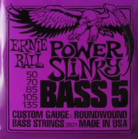 Ernie Ball EB 2821 struny na 5 baskytaru Power Slinky Bass 50-135