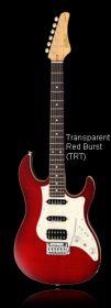 FGN JOS-FM-R Tranparent Red Burst elektrická kytara