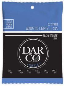 Darco D500 struny pro akustickou 12 strunnou kytaru