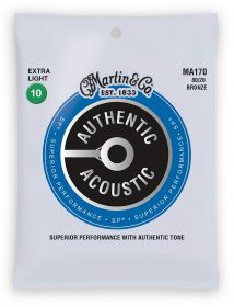 M 170 MARTIN Authentic SP 80/20 Bronze Extra Light