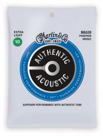 MA 530 MARTIN Authentic SP 92/8 Phosphor Bronze Extra Light