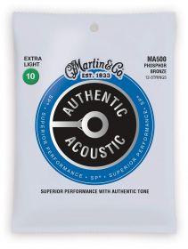 Martin MA 500 struny na 12 kytaru  MARTIN Authentic SP 92/8 Phosphor Bronze 12-String Extra Light