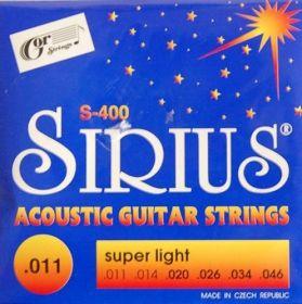 Struny kovové pro akustickou kytaru Gorstrings S400 Sirius