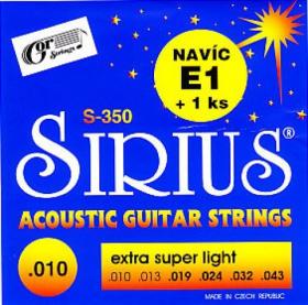 Struny kovové pro akustickou kytaru Gorstrings S-350 Sirius