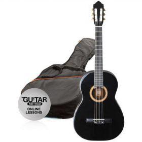 Klasická kytara paket 1/2 Ashton SPCG 12 BK Pack (černá)