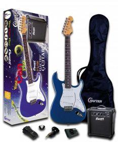 ST 100 PACK/Blue el. kytara, kombo Crafter a příslušenství