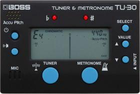 BOSS TU 30 nástrojová ladička + metronom