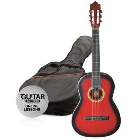 Klasická kytara paket 1/2 Ashton SPCG 12 TRB (červená)