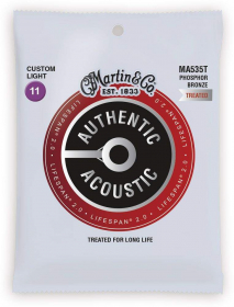 MA 535T MARTIN Authentic Lifespan 2.0 92/8 Phosphor Bronze Extra Light