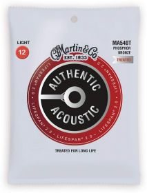 MA 540T MARTIN Authentic Lifespan 2.0 92/8 Phosphor Bronze Extra Light