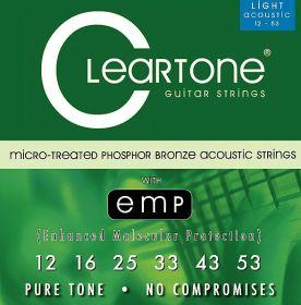 Cleartone 7412 PhBr - kovové struny pro akustickou kytaru (ultra light) 12/53