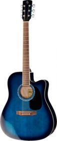 Harley Benton CLD-60SCE TB Custom Line kytara akustická s ozvučením