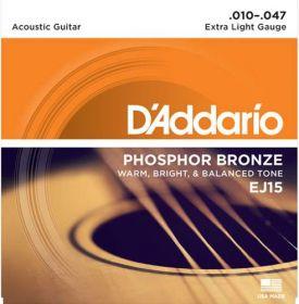 D´ADDARIO EJ15 kovové struny pro akustickou kytaru 0,10