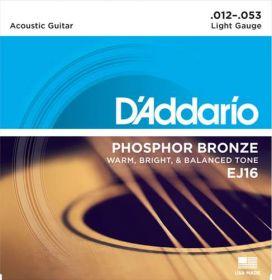 D´ADDARIO EJ16 kovové struny pro akustickou kytaru 0,12